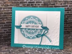Make a Medallion glimmerific! 2 of the items on this card you can get for FREE! Details on my blog; #stampinbj.com