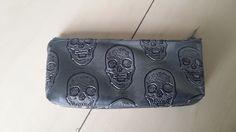 pochette zippé tête de mort