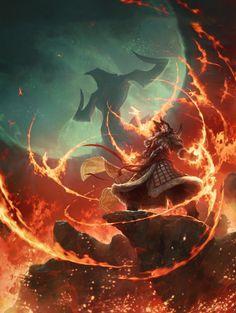 Sarkhan - Fate Reforged Artwork