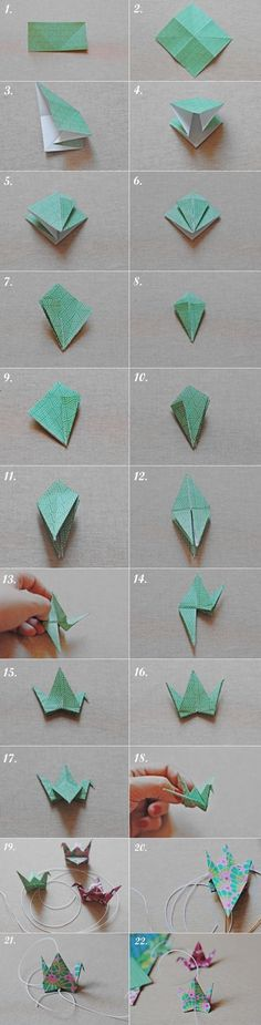instructables how to make a paper crane