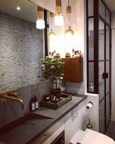 Double Vanity, Toilet, Mirror, Retro, Bathroom, Inspiration, Furniture, Instagram, Home Decor