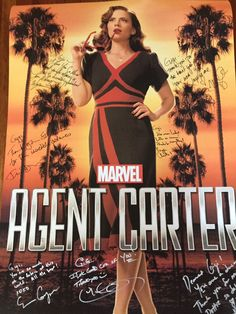 From: Giovanna Melton @ggmelton  Just received my second season poster signed by our fantastic cast . I miss you. #AgentCarter