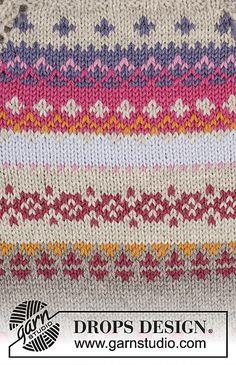 Ravelry: Highland Heather pattern by DROPS design Fair Isle Knitting Patterns, Knitting Charts, Knitting Stitches, Knitting Designs, Free Knitting, Baby Knitting, Punto Fair Isle, Motif Fair Isle, Fair Isle Pattern