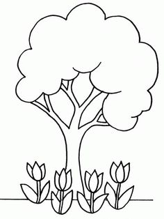 Coloriage Arbre Printemps Maternelle Facile JeColorie Com Imprimer Tagged at jobstips. Earth Day Coloring Pages, Leaf Coloring Page, Spring Coloring Pages, Easy Coloring Pages, Mandala Coloring Pages, Free Printable Coloring Pages, Coloring Pages For Kids, Coloring Sheets, Coloring Books