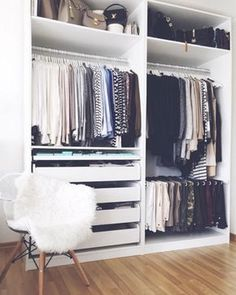 These Ikea closets are so stylish! Find some serious inspiration here. #BedroomIdeas