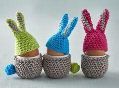 Free pattern: rabbit egg cosies - Simply Crochet
