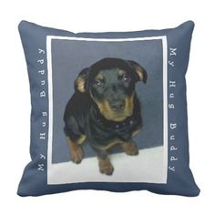 Huggable Rottweiler Puppy Pillow - photography gifts diy custom unique special