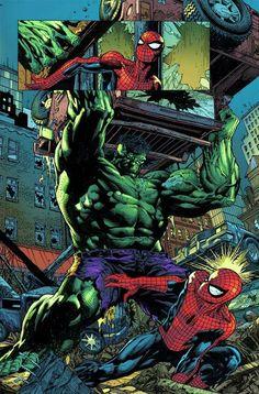 #Hulk #Fan #Art. (Hulk vs. Spider-Man Comic Book Panels) By: David Finch. (THE * 5 * STÅR * ÅWARD * OF: * AW YEAH, IT'S MAJOR ÅWESOMENESS!!!™)[THANK Ü 4 PINNING<·><]<©>ÅÅÅ+(OB4E)