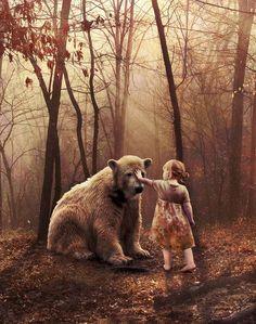 #ViConfido In cuore abbiamo tutti un cavaliere pieno di coraggio, pronto a rimettersi sempre in viaggio #GianniRodari Art D'ours, Cute Bear, Bear Art, Perfect World, Art Plastique, Faeries, Polar Bear, Teddy Bear, Fantasy Art