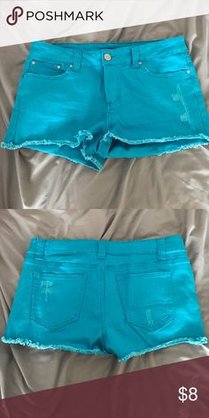 Bright blue shorts Denim like material, fun color Forever 21 Shorts