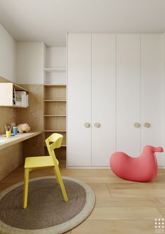 Design of a 92 sq. Almost all furniture was designed by me for this project. Kids Bedroom, Bedroom Decor, Kids Room Design, Kid Spaces, Kids Furniture, Girl Room, Interior Design Living Room, Behance, Home Decor