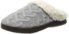 Isotoner Women's Cable Knit Bridget Clog Slipper Review