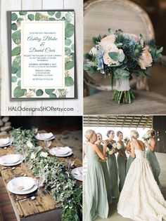 The Best Pink And Green Wedding Ideas – MyPerfectWedding Olive Green Weddings, Sage Green Wedding, Future Mrs, Spring Wedding Colors, August Wedding Colors, Eucalyptus Wedding, Wedding Color Schemes, Wedding Invitations, Wedding Napkins