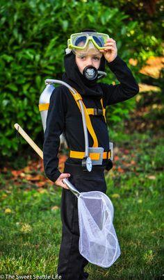 Taucher Kostüm selber machen | Kostüm Idee zu Karneval, Halloween & Fasching