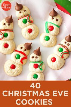 40 Christmas Eve Cookies If you're spending Christmas Eve baking cookies for Santa, than these recipes are for you. In this collection you'll find hearty dinners, snacks, drinks and kid-friendly cookie recipes. Christmas Deserts, Holiday Desserts, Holiday Baking, Holiday Treats, Christmas Baking, Christmas Eve, Holiday Recipes, Christmas Recipes, Candy Recipes