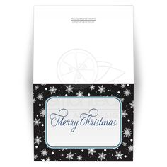 Christmas Cards - Midnight Snowflake Winter Merry Christmas