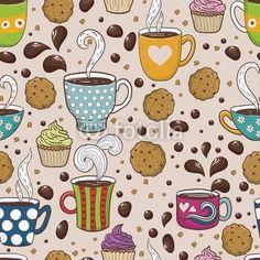 Wall mural Coffee seamless pattern