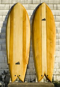 Waka Fish / Grain Surfboards / made of white cedar to it never shows pressure dings or stress-cracks