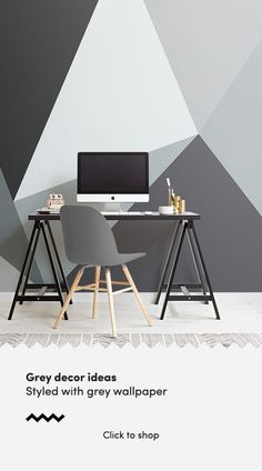 Give your home the ultimate makeover with our stunning geometric inspired convex wallpaper, a contemporary style design. Light Grey Walls, Contemporary Style, Modern, Grey Wallpaper, Create Space, Geometric Designs, Paint Designs, Experiment, Bangkok