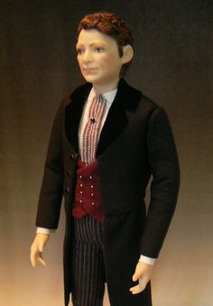 Porcelain Dollhouse  Victorian/Edwardian Man Doll in 1:12th Scale by Debbie Dixon-Paver