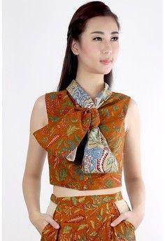 Witadya Tiga Negeri Top from DhieVine in brown