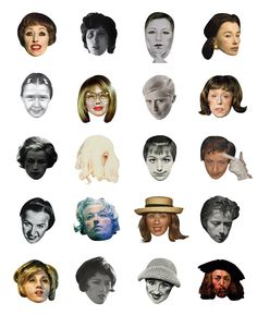 "Hyo Hong, ""Cindy Sherman-icons"" (2015) (courtesy the artist)"