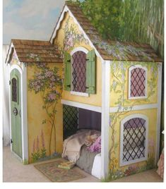 cottage playhouse & bed