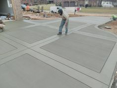 Concrete Patios, Stamped Concrete Driveway, Concrete Patio Designs, Cement Patio, Concrete Driveways, Cement Driveway, Colored Concrete Patio, Wood Walkway, Stained Concrete
