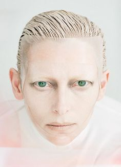 Tilda Swinton photographed by Tim Walker for W Magazine August 2011. Love her face. It's so unique