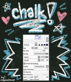 7 photo of 46 for chalk brush paint tool sai