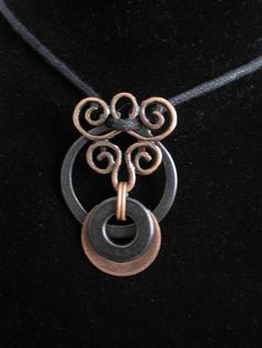 urban artifact necklace antiqued copper washer by UrbArchaeology