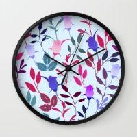 Flower Pattern III Wall Clock