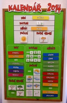Kalendar Primary Teaching, Teaching Tips, Primary School, French Classroom, School Classroom, Preschool Education, Preschool Activities, Weather For Kids, School Clubs