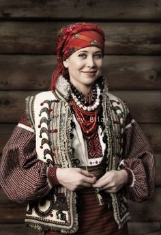 A hutsul woman in traditional dress. Folk Ukraine. Photo Youry Bilak http://hutsulexhibition.com/gallery-photos-portraits.php