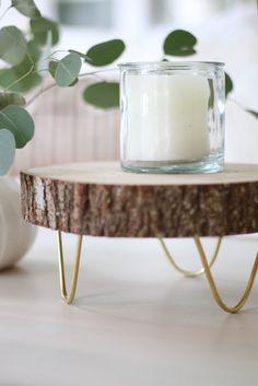 Craftberry Bush | DIY Footed Wood Slice Tray | http://www.craftberrybush.com
