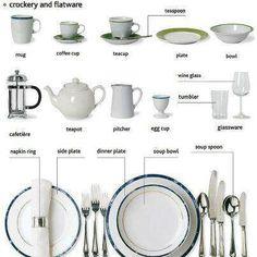 Crockery and flatware