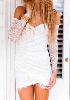 White lace bodycon