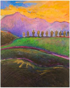 Sunset Over The Sleeping Lady by Ellen Levine Dodd - Now dying to go to her studio in Sausalito