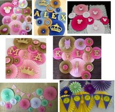Paper Rosettes, Paper Flowers, Paper Decorations, Birthday Decorations, Birthday Celebration, Birthday Parties, Birthday Ideas, Paw Patrol Party, Ideas Para Fiestas