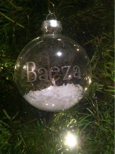 The Baeza Blog: Frosted Glass Ornaments