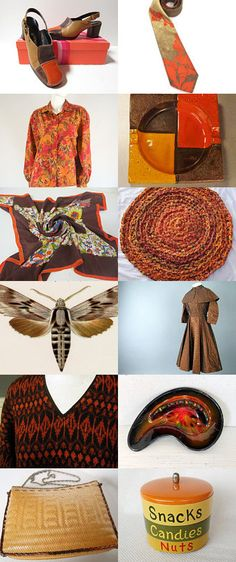 Brown And Orange Favorite Items!  *All WLV Team* by Carita Sirén on Etsy--Pinned with TreasuryPin.com