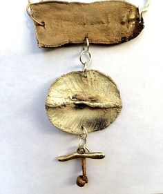 Leaf Pendant Statement Necklace Stick Necklace Gold and Silver Necklace Nature, Leaves, and Sticks by NaturefyingJewelry on Etsy