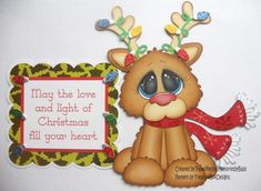 Premade Christmas Rudolph Paper Piecing Set for Scrapbook Page by Babs Christmas Scrapbook, Christmas Paper, Christmas Signs, Christmas Crafts, Christmas Ornaments, Xmas, Christmas Stuff, Merry Christmas, Paper Roll Crafts