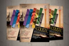 Acoustic Music Flyer / Poster #2018flyer #acoustic