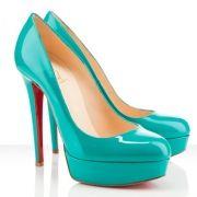 Christian Louboutin Bianca 140mm Patent Platform Pumps Jade http://www.bchcares.us/