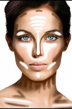 Contouring high cheekbones