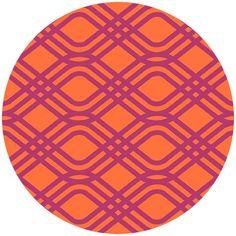 Alison Glass, Clover Sunshine, Party Streamer Hot Pink/Pumpkin