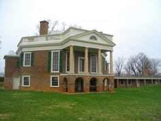 An hexagonal house--I love it much more than Monticello--the dining room in the middle of the floor plan is wonderful