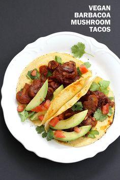 Vegan Barbacoa Mushroom Tacos . This Barbacoa Sauce is super easy and versatile. Use it with beans, lentils or other shredded vegetables for variation. Vegan Barbacoa Recipe. Gluten-free Nut-free Recipe | VeganRicha.com