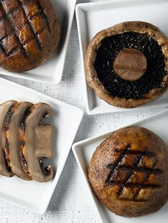 Portobello Mushrooms: They're substantive enough to easily replace a meat option and keep you feeling full longer. #healthy #grilling